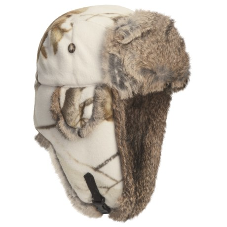Mad Bomber® Poly Fleece Aviator Hat - Rabbit Fur, Insulated (For Men and Women)