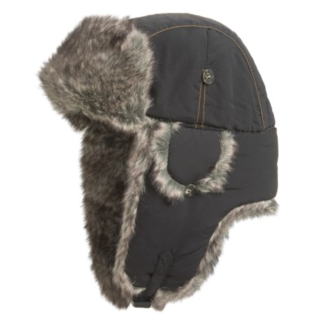 Mad Bomber® Supplex® Nylon Aviator Hat - Faux Fur, Insulated (For Men and Women)