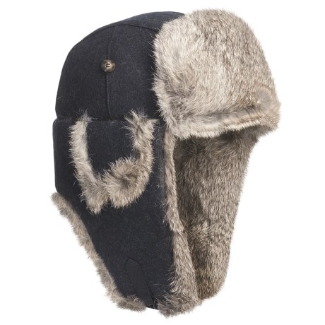 Mad Bomber® Wool Aviator Hat - Rabbit Fur, Insulated (For Men and Women)