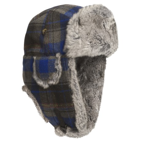 Mad Bomber® Wool Plaid Aviator Hat - Rex Rabbit Fur, Insulated (For Men and Women)