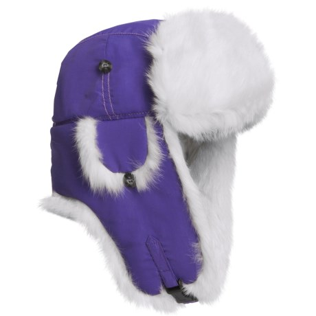 Mad Bomber® Supplex® Nylon Aviator Hat - Rabbit Fur (For Men and Women)