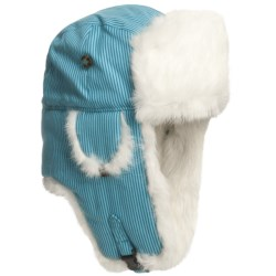 Mad Bomber SUPPLEX SKULL EMBROIDERED AVIATOR HAT W/RABBIT FUR (For Men and Women)