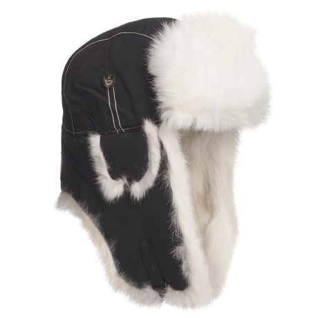 Mad Bomber® Quilted Supplex® Aviator Hat - Rabbit Fur, Recycled Materials (For Men and Women)