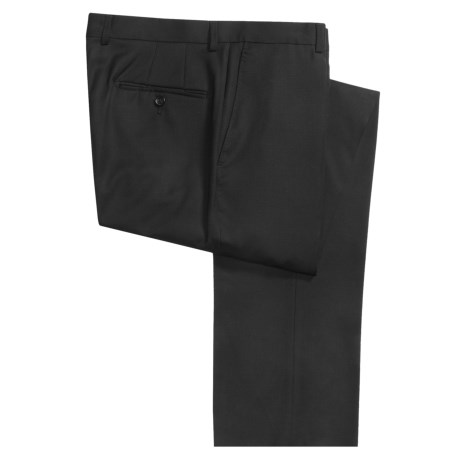 Hickey Freeman Wool Gabardine Dress Pants - Flat Front (For Men)