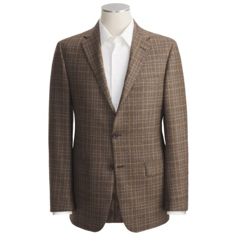 Hickey Freeman Plaid Sport Coat - Worsted Wool-Cashmere (For Men)