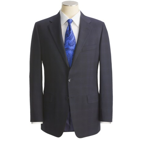 Hickey Freeman Beaded Check Suit - Worsted Wool, Lindsey Model (For Men)