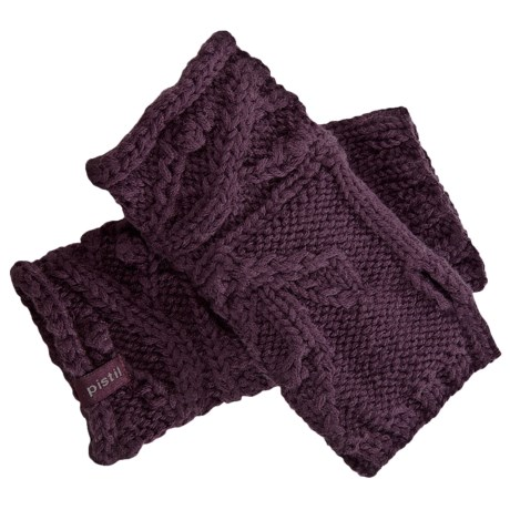 Pistil Knit Leaf Wristlets - Merino Wool (For Women)