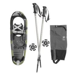 """Tubbs Xplore Snowshoe Kit - 25"""" Snowshoes, Poles, Gaiters"""