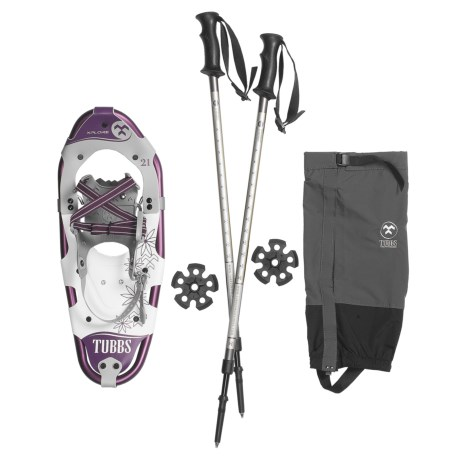 "Tubbs Xplore Snowshoe Kit - 21"" Snowshoes, Poles, Gaiters (For Women)"