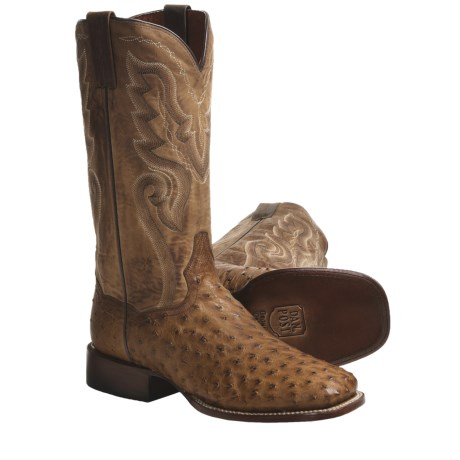 Dan Post Full-Quill Ostrich Cowboy Boots - Square Toe (For Men)
