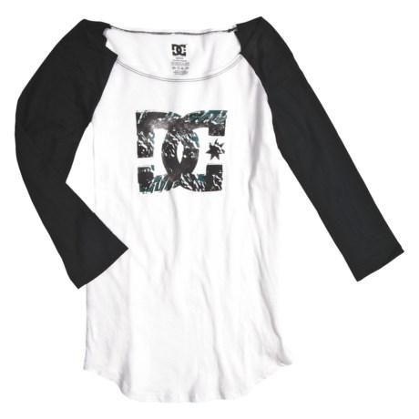 DC Shoes Logo Rama Baseball Shirt - 3/4 Sleeve (For Women)
