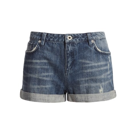 DC Shoes Inky Denim Shorts - Rolled Cuffs (For Women)