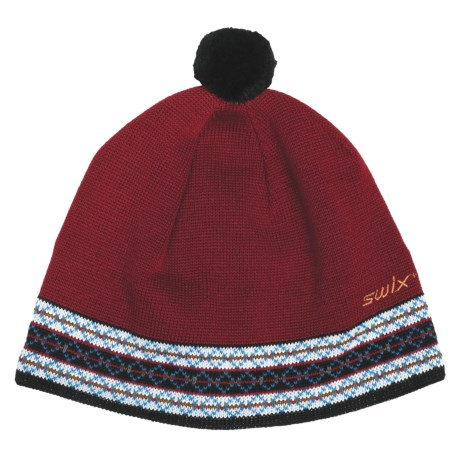 Swix Erland Pompom Beanie Hat - Merino Wool (For Men and Women)