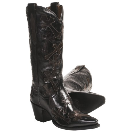 "Dan Post Southern Cross Cowboy Boots - Leather, 13"", Snip-Toe (For Women)"