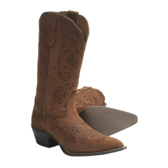 Laredo Miranda Leather Cowboy Boots - Snip-Toe (For Women)