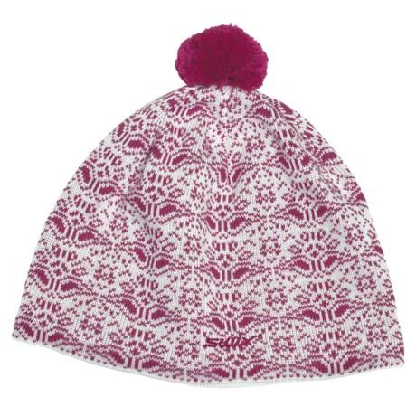 Swix Niva Pompom Beanie Hat - Merino Wool (For Men and Women)