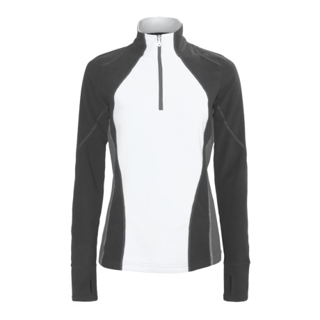 Obermeyer Landon Microfleece Shirt - Zip Neck, Long Sleeve (For Women)