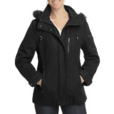 Excelled Wool-Blend Hooded Parka (For Plus Size Women)
