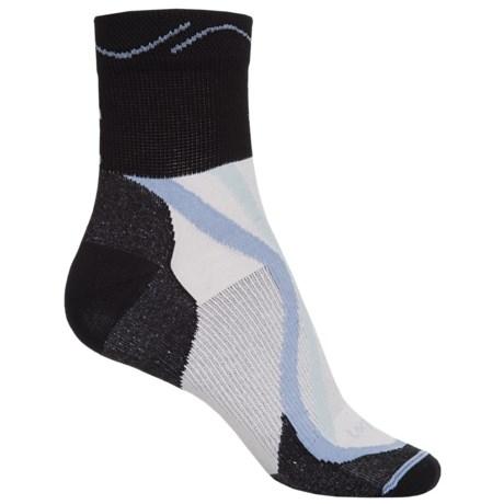 Lorpen Tri-Layer Ultralight Trail Running Socks - TENCEL®-CoolMax®, Quarter Crew (For Women)