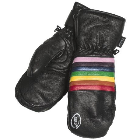 Zero Pro Model Rainbow Mittens - Insulated, Leather (For Men)