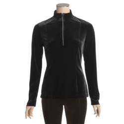 Sno Skins Plush Tech Velvet Shirt - Swarovski Zip, Long Sleeve (For Women)