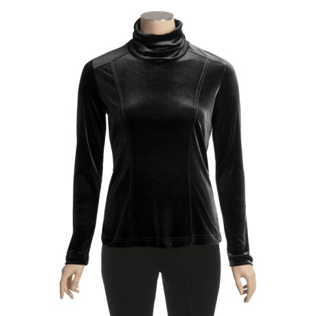 Sno Skins Plush Tech Velvet Turtleneck - Long Sleeve (For Women)