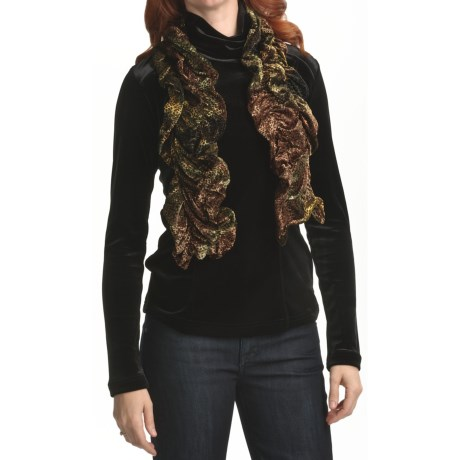 Sno Skins Burnout Velvet Scarf (For Women)