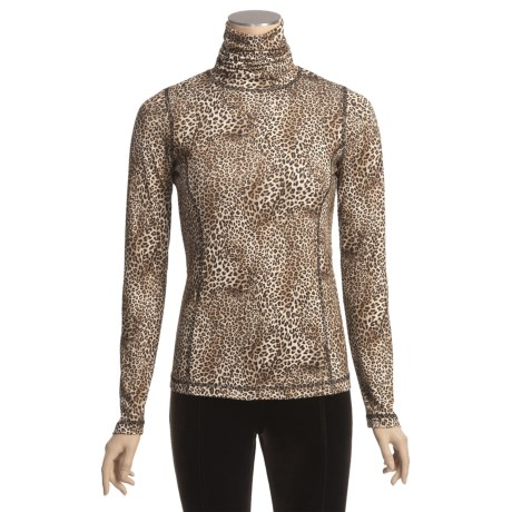 Sno Skins Microfiber Print Turtleneck - Long Sleeve (For Women)