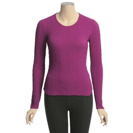 Sno Skins Pebbled Blister Sport Shirt - Jewel Neck, Long Sleeve (For Women)