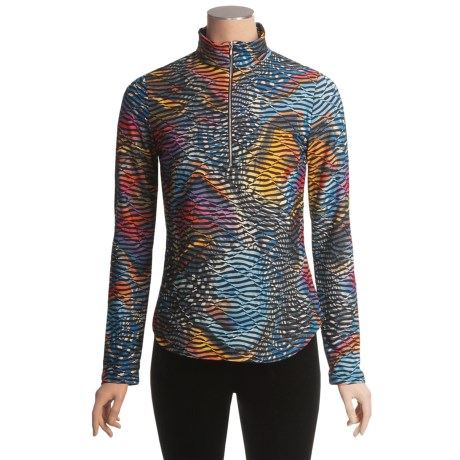 Sno Skins Twisted Print Shirt - Zip Neck, Long Sleeve (For Women)