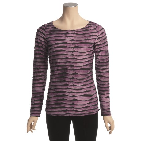 Sno Skins Pleated Stripes Shirt - Long Sleeve (For Women)