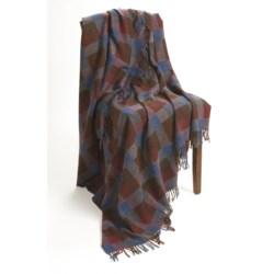 Moon Mini Block Check Throw Blanket - New Wool