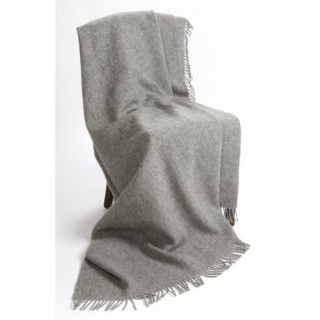 "Moon Pure New Wool Throw Blanket - 86x60"""