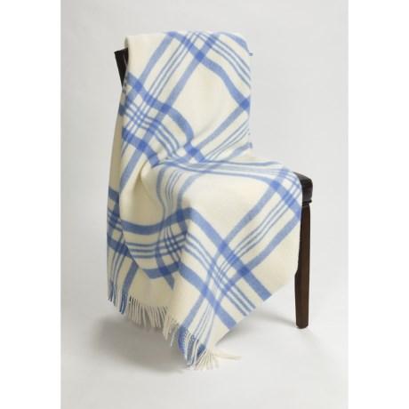 Abraham Moon & Sons Moon York Check Throw Blanket - New Wool