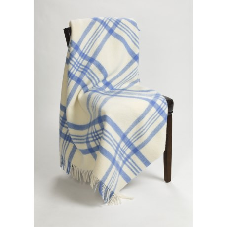 Moon York Check Throw Blanket - New Wool