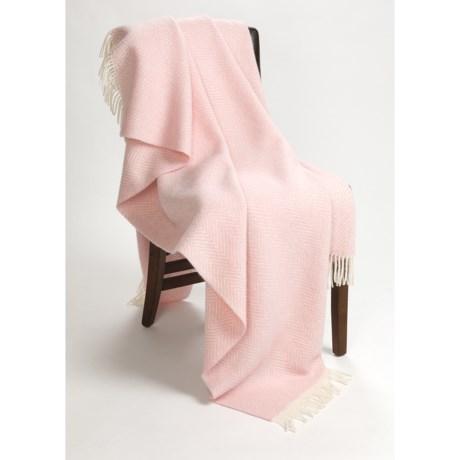 Moon Herringbone Throw Blanket - New Wool