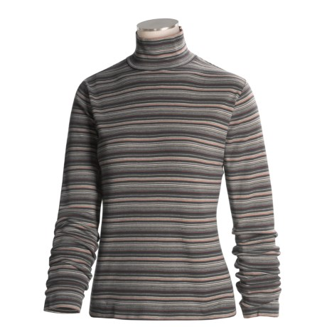 Woolrich Striped Mock Turtleneck - Long Sleeve (For Women)