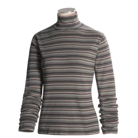 Woolrich Striped Mock Turtleneck - Long Sleeve (For Women)