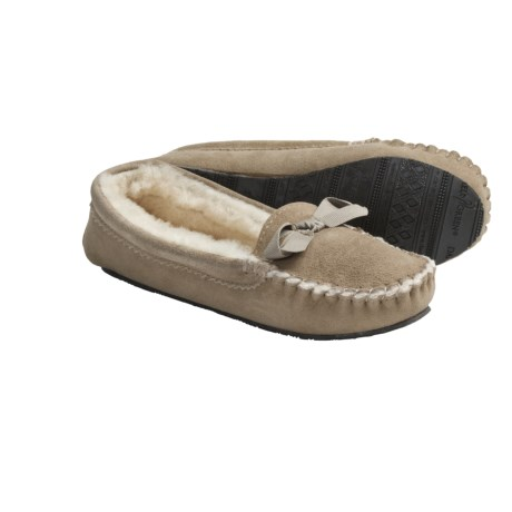 Daniel Green Nessa Moccasin Slippers - Sheepskin, Shearling Lined (For Women)