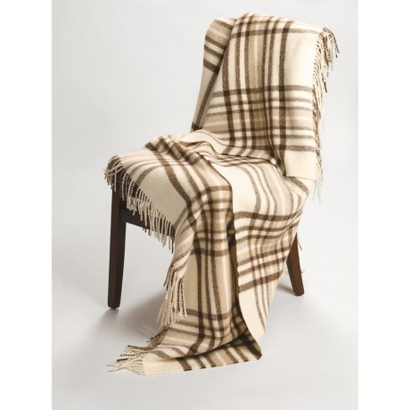 Johnstons of Elgin Alpaca-Lambswool Throw Blanket - Limited Edition, Plaid