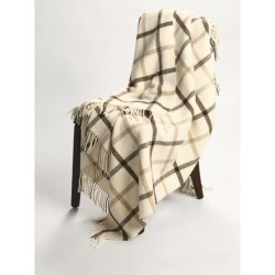 Johnstons of Elgin Alpaca-Lambswool Throw Blanket - Limited Edition, Windowpane