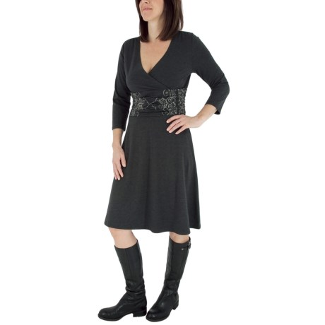 Royal Robbins Essential Dress - UPF 50+, V-Neck, 3/4 Sleeve (For Women)