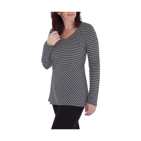Royal Robbins Lucy Slant Stripe Shirt - Organic Cotton, V-Neck, Long Sleeve (For Women)