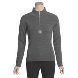 Meister Twinkle Sweater - Wool Blend, Zip Neck (For Women)