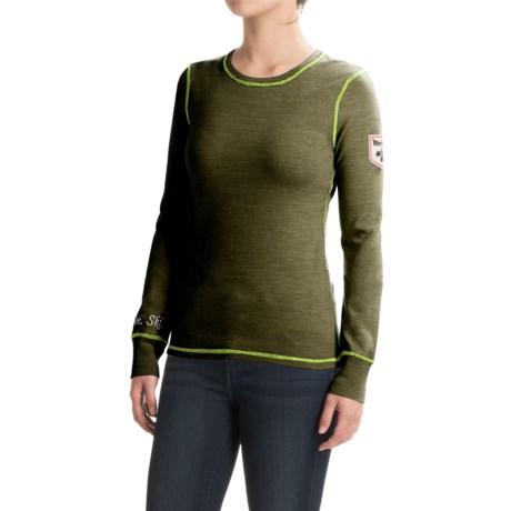 Meister Postcard Sweater - Stretch Merino Wool, Screenprint (For Women)