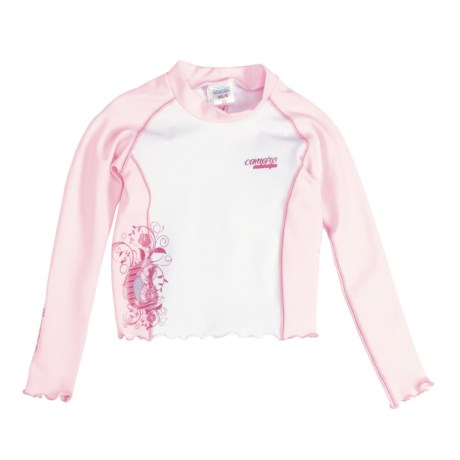 Camaro Rash Guard Top - UPF 50+, Long Sleeve (For Toddler Girls)