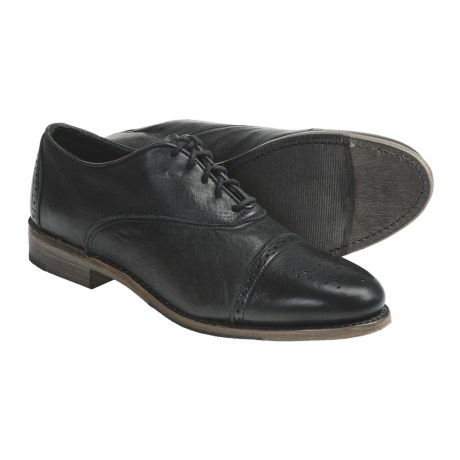 Vintage Ellen Brogue Oxford Shoes - Leather (For Women)