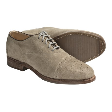 Vintage Ellen Brogue Oxford Shoes - Leather (For Women)
