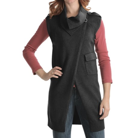 Cullen Asymmetrical Sweater Vest - Merino Wool-Cotton (For Women)