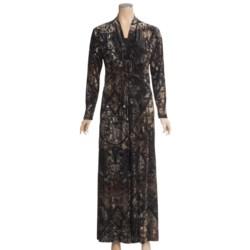 Diamond Tea Burnout Velvet Robe - Adjustable Tie (For Women)